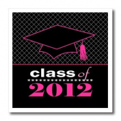 Janna Salak Designs Graduation Gifts - Stylish Class of 2012 Grad - Graduation Gift - Pink and Black - Iron on Heat Transfers