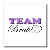 Janna Salak Designs Wedding - Wedding Party - Team Bride - Purple - Iron on Heat Transfers