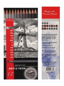 Pacific Arc Graphite Drawing Pencil Sets technical set of 12