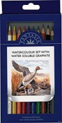 Fantasia Watercolour Pencil Set with Water Soluble Graphite