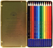 Fantasia Set of 12 Coloured Pencils in a Metal Tin