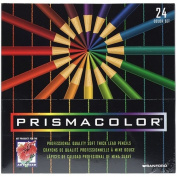 PrismaColor Thick Lead Art Pencils, Carmine Red, 12/Box SAN03354