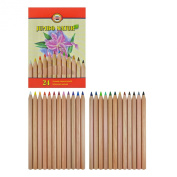 Koh-i-noor 24 Jumbo Natur Coloured Pencils with Special Finish. 2174