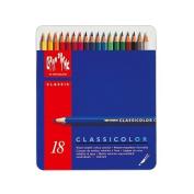 Caran D'ache Classicolor Classic Metal Box, 18 Colour Pencils
