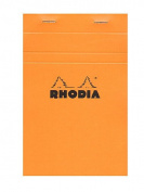 Rhodia Classic French Paper Pads graph 11cm . x 16cm . orange [PACK OF 6 ]