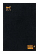 Rhodia Staplebound Notebooks ruled, black cover 21cm . x 30cm . 48 sheets [PACK OF 5 ]