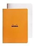 Rhodia Staplebound Notebooks ruled, orange cover 21cm . x 30cm . 48 sheets [PACK OF 5 ]