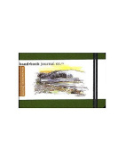 Hand Book Journal Co. Travelogue Drawing Journals 8.9cm . x 14cm . landscape cadmium green [PACK OF 2 ]