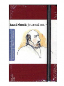 Hand Book Journal Co. Travelogue Drawing Journals 8.9cm . x 14cm . portrait vermilion red [PACK OF 2 ]