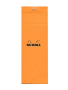 Rhodia Classic French Paper Pads graph 7.6cm . x 21cm . orange [PACK OF 8 ]