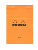 Rhodia Classic French Paper Pads ruled 10cm . x 15cm . orange [PACK OF 8 ]