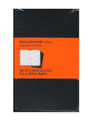 Moleskine Cahier Journals black, ruled 8.9cm . x 14cm . pack of 3, 64 pages each [PACK OF 3 ]