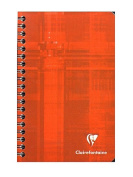 Clairefontaine Classic Wirebound Notebooks 11cm . x 17cm . ruled 90 sheets [PACK OF 5 ]