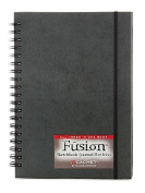 Cachet Fusion Sketch Journal Folio 18cm . x 25cm . black