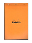 Rhodia Classic French Paper Pads graph 21cm . x 32cm . orange [PACK OF 3 ]
