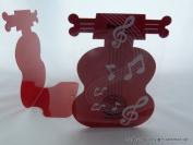 Funmusiconline Funmusic A Pair Of Red Cello Shape Metal Bookend