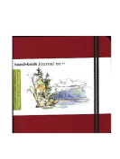 Hand Book Journal Co. Travelogue Drawing Journals 14cm . x 14cm . square vermilion red [PACK OF 2 ]