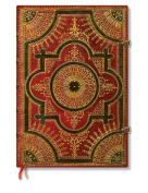 Paperblanks Baroque Ventaglio Journals Rosso Grande, 21cm . x 30cm . 240 pages, unlined