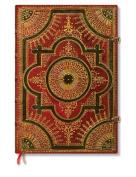 Paperblanks Baroque Ventaglio Journals Rosso Grande, 21cm . x 30cm . 240 pages, unlined
