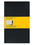Moleskine Cahier Journals black, graph 13cm . x 21cm . pack of 3, 80 pages each [PACK OF 3 ]