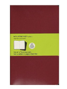 Moleskine Cahier Journals red, blank 13cm . x 21cm . pack of 3, 80 pages each [PACK OF 3 ]