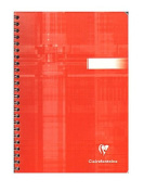 Clairefontaine Classic Wirebound Notebooks 15cm . x 21cm . ruled 90 sheets [PACK OF 5 ]