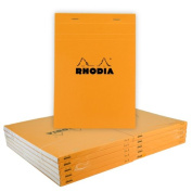 Rhodia Classic Orange Notepad 3X8.25 Grid 10Pk
