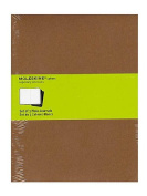 Moleskine Cahier Journals kraft brown, blank 19cm . x 25cm . pack of 3, 120 pages each [PACK OF 3 ]