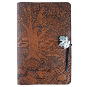 Creekside Maple Tree Embossed Leather Writing Journal, 15cm x 23cm , refillable