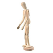 Wooden Human Mini Mannequin (Unisex) 30cm Tall