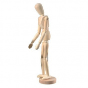 Wooden Human Mini Mannequin (Unisex) 30cm Tall