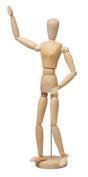 Wooden Human the Manikin Mannequin - 14cm Tall