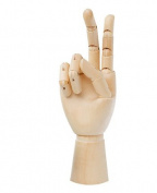 18cm Wooden Hand Manikin Child Hand, 18cm Tall Child Right Hand