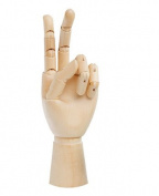 25cm Tall Wooden Hand Manikin Female Left Hand
