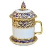 Benjarong Mug in Bua pattern premium Product of Thailand
