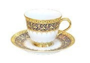 Benjarong coffee cup half pattern design Product of Thailand