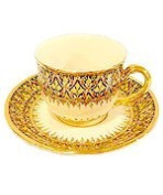Benjarong coffee cup half pattern Product of Thailand