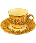 Benjarong coffee cup in Key-Yark half pattern Product of Thailand