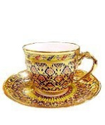 Thai Benjarong Coffee cup in Bua-Sa-Wan pattern Product of Thailand