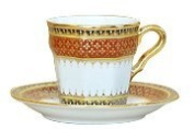 Square shap coffee cup Pikul-thong halp pattern Product of Thailand