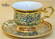 Coffee cup Coffee cup with saucer in Winsor, Full patterned,Shiny glazed. Product of Thailand