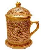 Benjarong Mug in Key-Yark pattern, matt Glaze Product of Thailand