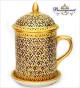 Benjarong Mug Key-Yark pattern. Matte skin premium Product of Thailand premium Product of Thailand