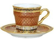 Square shap coffee cup Pikul-thong pattern Product of Thailand