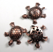 Brass Alloy Turtle Pendant with Moving Appendages