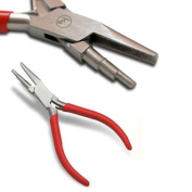 KENT 3-Step Wire Looping 14cm Pliers with Concave Lower Jaw For Beading and Jewellery