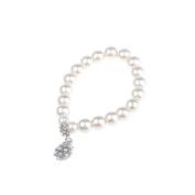 BestDealUSA Stylish Elegant White Pearl Style Beautiful Bracelet