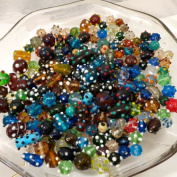 75 Grammes of Cocoa's Premium Bumpy Dot Beads Lampwork Collection, Variety of Colours and Sizes 8mm-24mm Small to Large