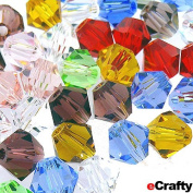 """Crystal Faceted Glass Beads Bicone Mix 4mm Rainbow 50pc EXTRA SMALL 1/6"""""""