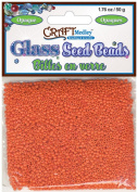 Glass Seed Beads 12/0 Opaque 60 Gms/Pkg-Orange